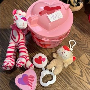 Pink heart pal and goodies